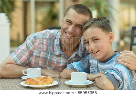 father with son