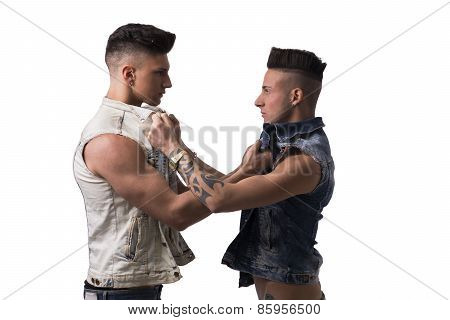 Two Aggressive Young Men