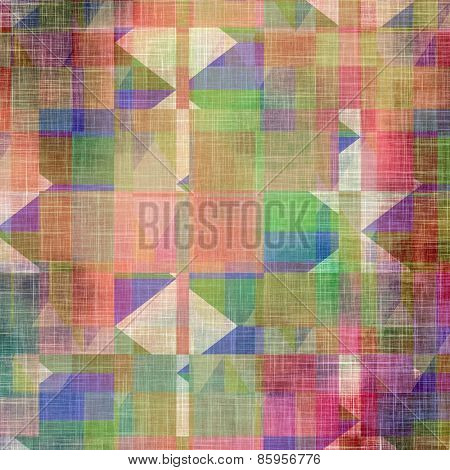 Old, grunge background texture. With different color patterns: brown; blue; pink; green
