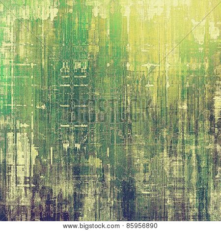 Colorful designed grunge background. With different color patterns: yellow (beige); gray; green