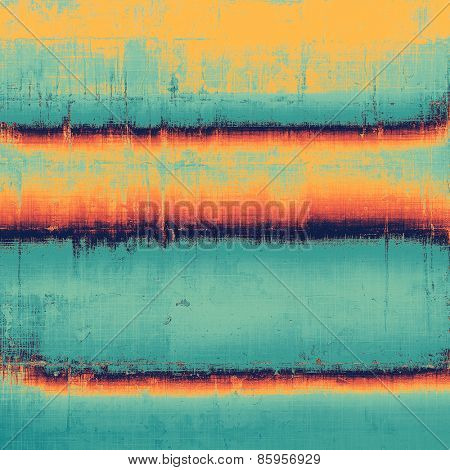 Vintage texture with space for text or image. With different color patterns: yellow (beige); blue; cyan