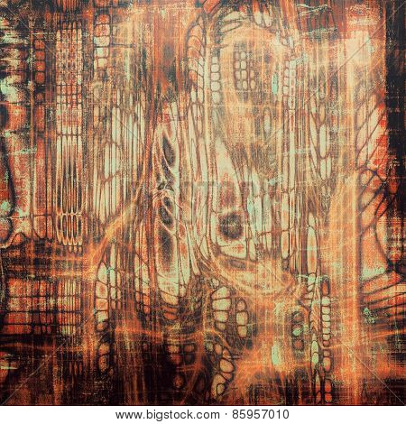 Abstract grunge background. With different color patterns: yellow (beige); red (orange); black