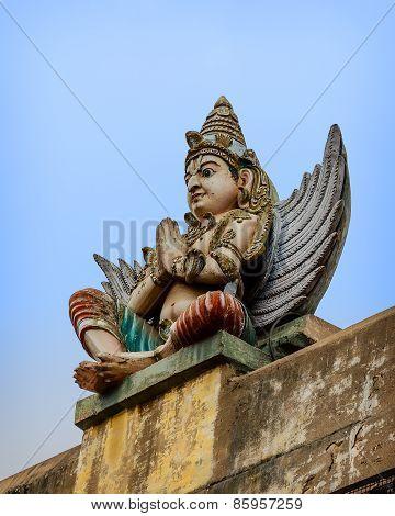 Detail  of indian Brihadeshwara Temple
