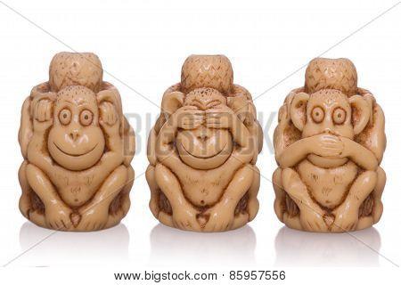 Three-faced Toy Monkey