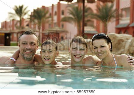 Happy family relax