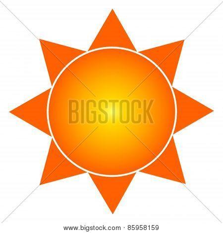 Orange Sun Symbol