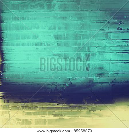 Beautiful vintage background. With different color patterns: yellow (beige); blue; cyan