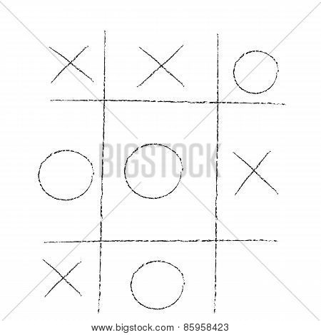 doodle tic tac toe XO game