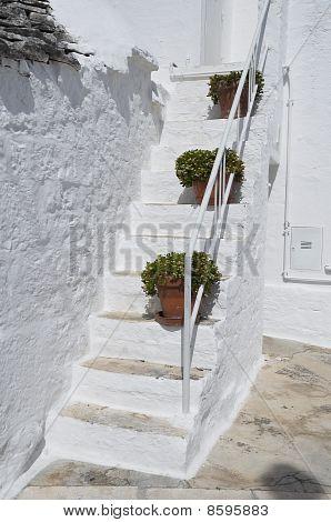Trullo Staircase. Alberobello. Apulia.