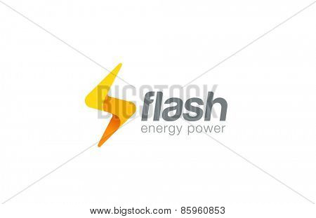 Lighting bolt Flash Logo design vector template. Fast Quick Rapid icon concept symbol. Thunderbolt Logotype.