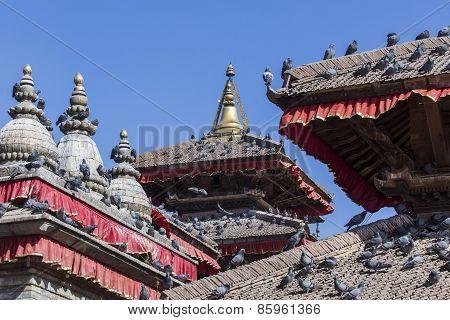 The Famous Durbar Square In Kathmandu, Nepal.