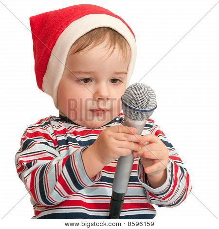 Little Santa With Microphone