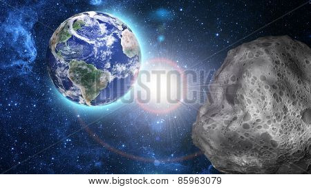 Asteroid Approaching To Earth