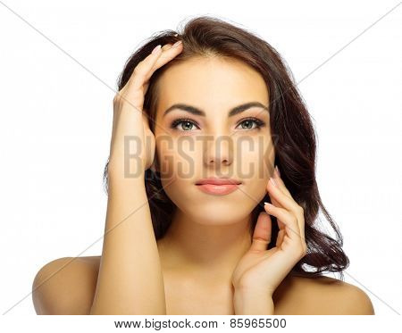Young healthy girl portrait isolated
