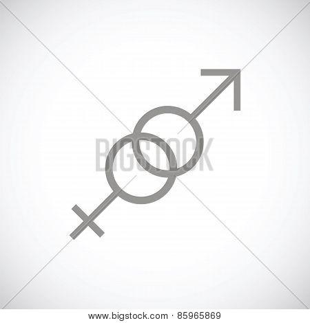 Sex black icon