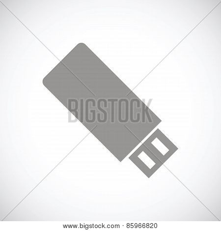 Flash drive black icon