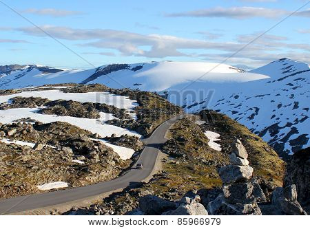 Road Along The Snowy Mountains