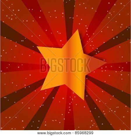 Retro Star Vintage card. Vector illustration