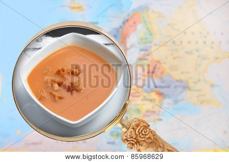 Looking In On Gazpacho Soup From Spain