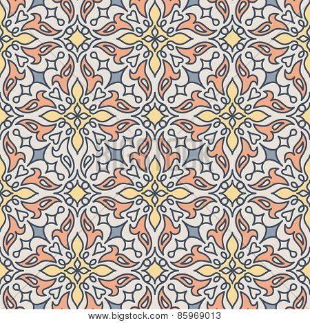 Arabic vector seamless pattern, tiling.