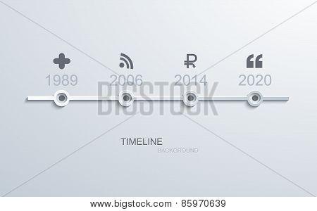 Vector modern timeline infographic.