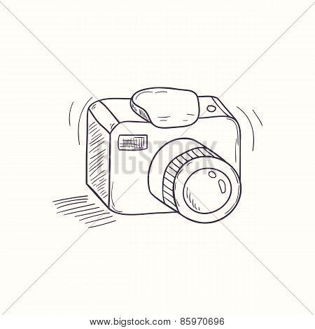 Sketched Digital Camera Desktop Icon