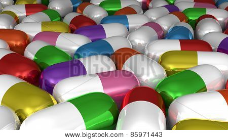 Many Multicolor Pills