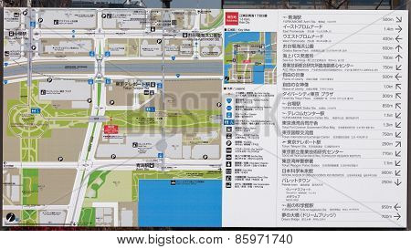 Map Of The Pedestrian Area Of Odaiba