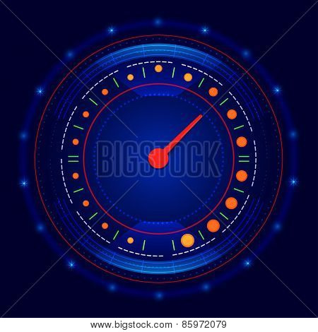 Futuristic Car Speedometer Vector