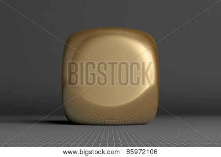 Golden Rounded Cube