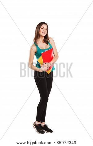 bright picture of happy and smiling teenage girl