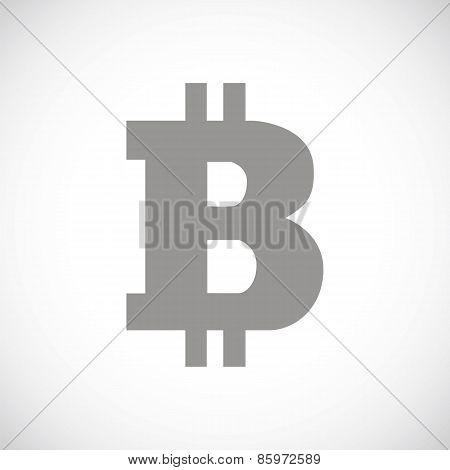Bitcoin black icon
