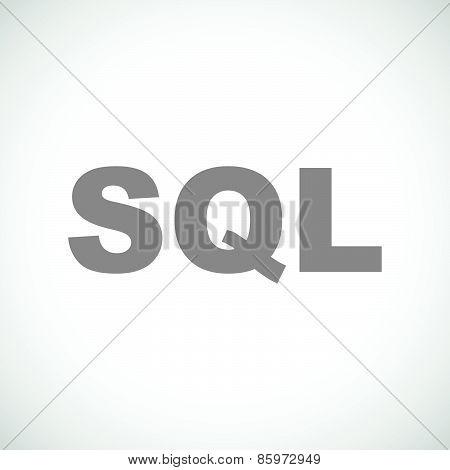SQL black icon