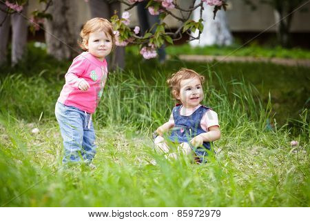 Two girls play