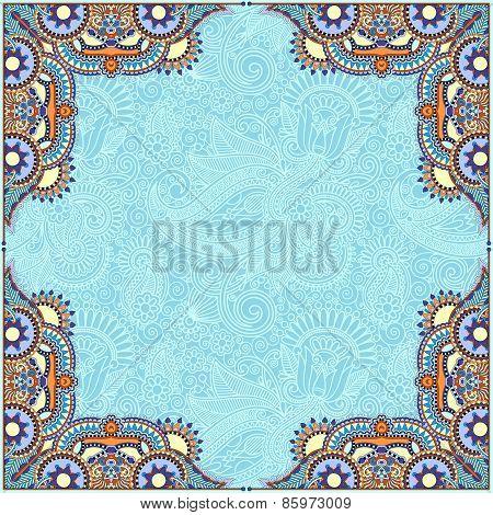 floral vintage frame, ukrainian ethnic style