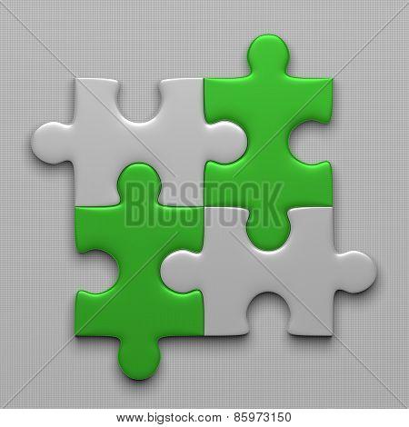 Four Puzzle Pieces