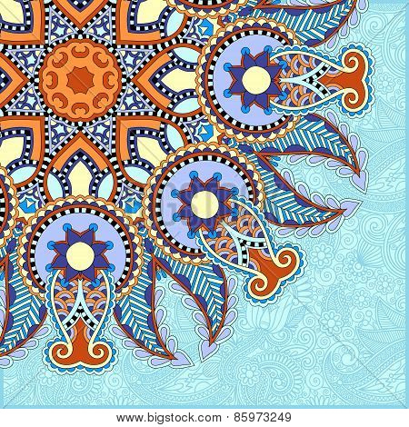 pattern in ukrainian oriental ethnic style