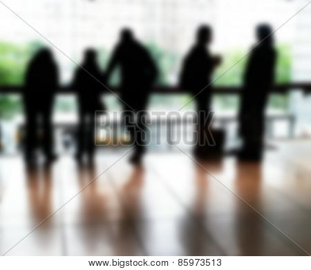 Silhouette Of Five People
