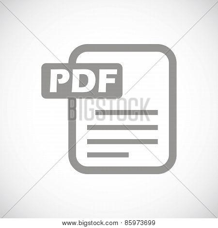 Pdf black icon