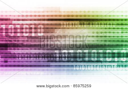 Technology Background as a Futuristic Abstract Concept