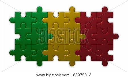 Mali Flag Of Puzzles