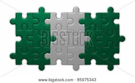 Nigeria Flag Of Puzzles