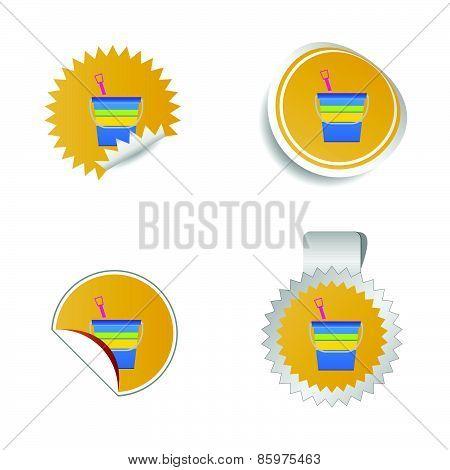 Beach Basket Color Vector