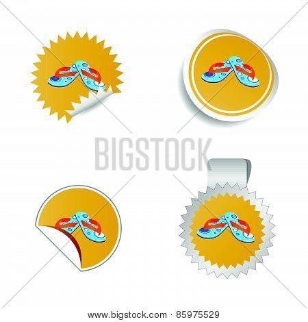 Flip Flop Color Vector