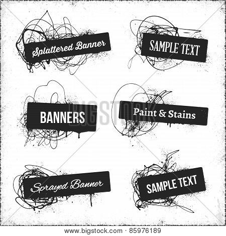 Banners With Spray Paint