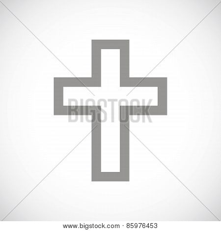 Protestant Cross black icon