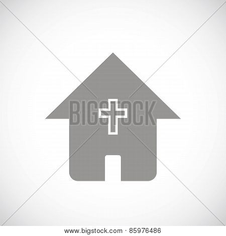 Protestant church black icon