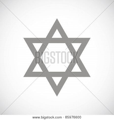 Judaism black icon