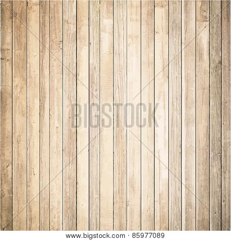 Light wooden texture with vertical planks. Vector floor surface