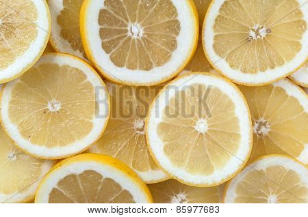 Background Made Of Grapefruit Slices